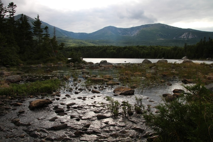Mt Katahdin Over Sandy Stream Pond