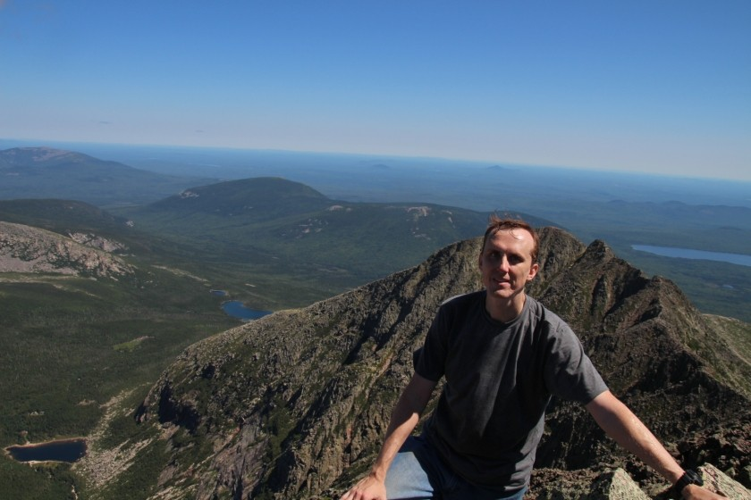 David on Mt Katahdin