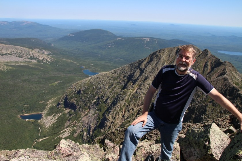 Greg on Mt Katahdin