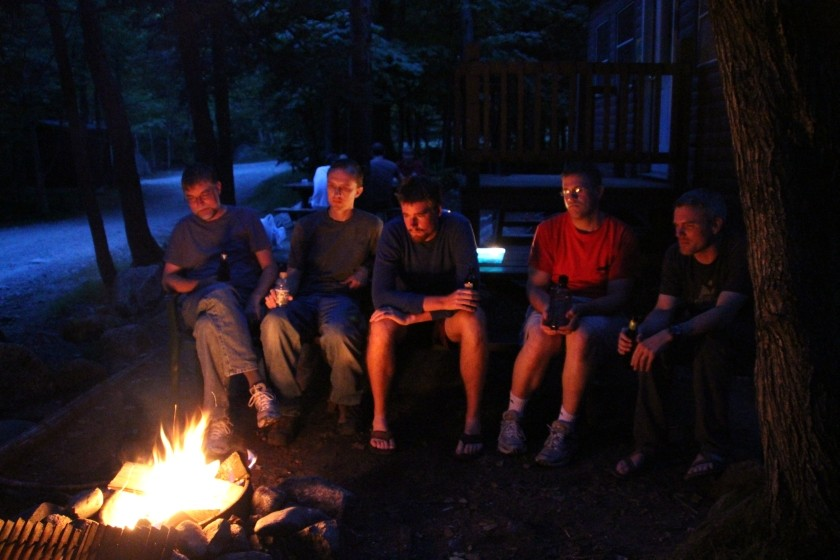 Relaxing after Mt Katahdin
