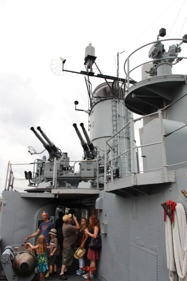 USS Cassin Young AA Guns