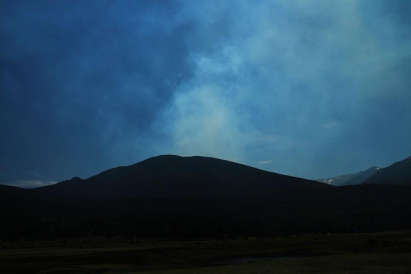RMNP Big Meadows Fire Smoke