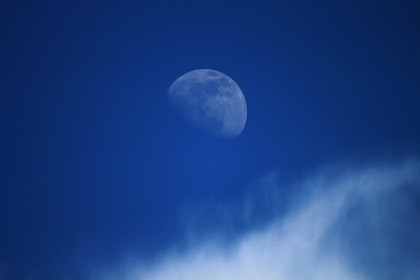 RMNP Waxing Gibbous Moon